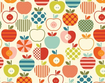 Colorful Apple Fabric - Colorful Scandinavian Apples By Katerhees - Rainbow Nursery Decor Cotton Fabric By The Yard With Spoonflower