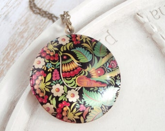 Bird Locket Necklace - Bohemian Sparrow