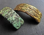 Polymer clay bracelet connectors with crackle. Rustic jewelry elements, your choice.