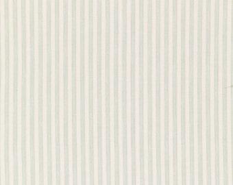 Tilda Fabric, Tilda Rough Stripe Light Green Fat Quarter, Happiness is Homemade Collection, Tilda Fabric 480735, Fat Quarter, 50 cm x 55 cm