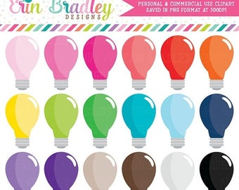 50% OFF SALE Light Bulb Clipart Graphics Instant Download Commercial Use Clip Art