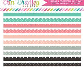 50% OFF SALE Spring Fever Clipart Borders Commercial Use Clip Art Instant Download