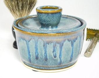 Shaving Soap Jar - Soap Lidded Jar - Soap Canister - Soap Crock - Soap Container - Shaving Soap Kit - Soap Saver - Soap Holder - In Stock