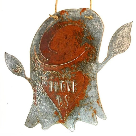 Tree Stump Wall Decor : I love us tree stump rusted metal door hanger wall decor with