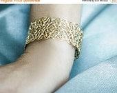 On Sale 40% Off Michelle- Filigree Bracelet, wedding accessory, bridal gold bracelet