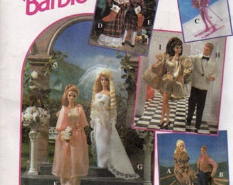 Retired BARBIE DOLL Clothes Sewing Pattern - Barbie & Friends Rare OOP