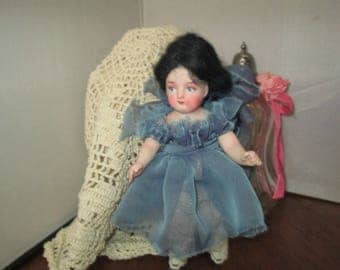 porcelian collectable artist made doll art doll