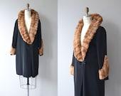 Hatfield House coat | vintage 1920s coat | sheared mink fur 20s coat