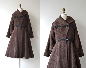 Rodchenko princess coat | 1950s boucle wool coat | 50s princess coat