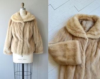 Luosto mink coat | vintage 1950s mink coat | 50s blond mink coat