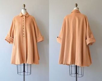 Honeywell wool coat | vintage 1950s swing coat | wool 50s trapeze coat