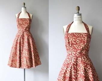 Bittersweetest dress | vintage 1950s dress | floral 50s halter dress
