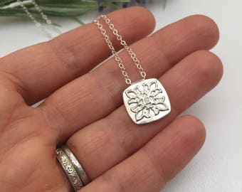 Fine Silver Fleur De Lis Necklace Gift for Mom Mothers Day Anniversary