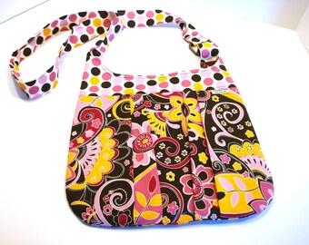 Pleated Cross Body Bag - Hobo Bag - Pleated Handbag