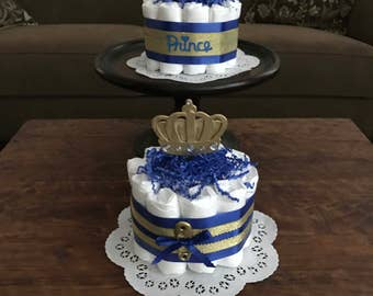 Little Prince Royal baby Shower Diaper Cakes Centerpieces other colors and sizes too bundt cake size