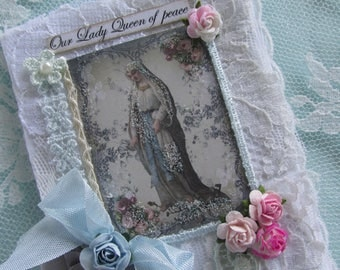 Virgin Mary Journal, Devotional Journal, Catholic Prayer Book, Mothers Day Gift, Blessed Mother Gift, Mary Gift,  Catholic Gift