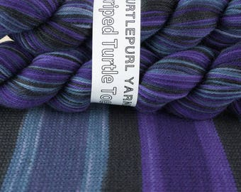 Twilight - Hand-dyed Self-striping sock yarn