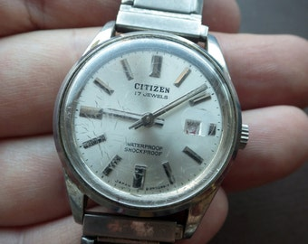 Vintage Men's Citizen Stainless Watch - Wind up.
