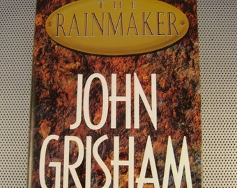 Vintage 1995 The Rainmaker John Grisham Hardcover Book, First Edition, Autographed Signed by the Author