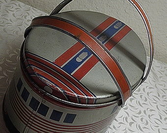 vintage Printed Tin TRAIN LUNCHBOX metal