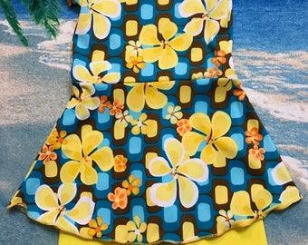 Girls modest swimsuit set size 6