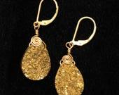 Gold Druzy Earrings...