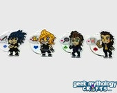 "Final Fantasy XV 2"" Single-Sided Acrylic Charms - Noctis Prompto Ignis Gladio - Key chain phone charm"
