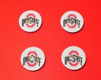 Ohio State Magnets, Ohio State Buckeyes, The Ohio State University Gift, Graduation Gift, Gift for Mom, Office Accessory, Fridge Magnet