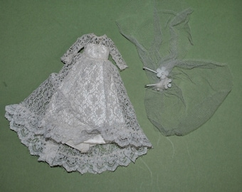 Topper Dawn #815 Wedding Bell Dream Gown and Veil White with Metallic Threads