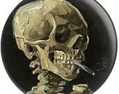 Vincent Van Gogh Needle Minder / Cross Stitch Keeper / Pin Keeper/ Skeleton Needle Minder / Cross Stitch Accessory / Fridge Magnet / Skull