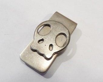Money clip skull money clip silver tone money clip