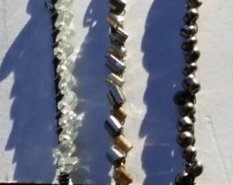 Crystal Beaded Hair Pins, Set of 3 Bobby Pins