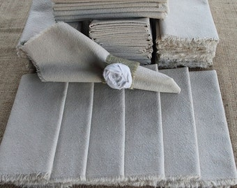 100 Cloth Napkins Unbleached Cotton