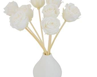Frost White Rose Reed Diffuser by MelroseFields