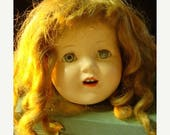 ON SALE This belongs to Amy please do not purchaseAntique Huge and Gorgeous  Composition Antique Doll head Creepy Eye