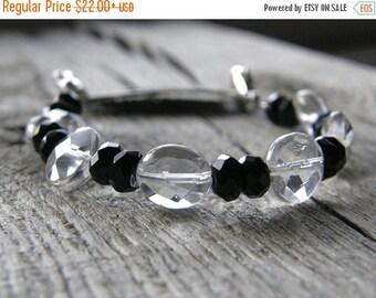 20% OFF Crystal Quartz Medical ID Bracelet, Black Agate Gemstone Detachable Sterling Silver Bracelet, Medical Bracelet Attachment