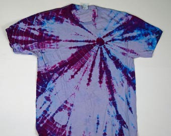 Moonbeams Tie Dye T-Shirt  (Fruit of the Loom Heavy Cotton HD Size L) (One of a Kind)
