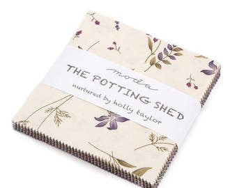 SALE The Potting Shed Charm Pack Fabric - Moda - Holly Taylor
