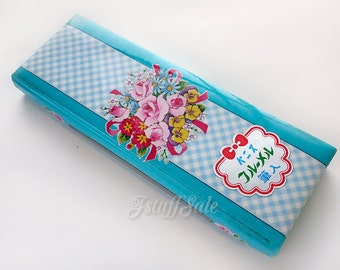 70's vintage - Japanese pencil case (Bouquet)