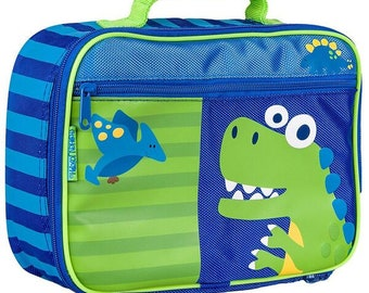 Personalized Stephen Joseph Blue Dino Lunchbox
