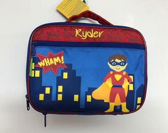Personalized Stephen Joseph Superhero Lunchbox NEW