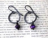 Purple Jewelry, Boho Jewelry, Black Jewelry, Bohemian Jewelry, Rustic Jewelry, Vintaj Jewelry, Industrial Jewelry, Wrought Iron Jewelry