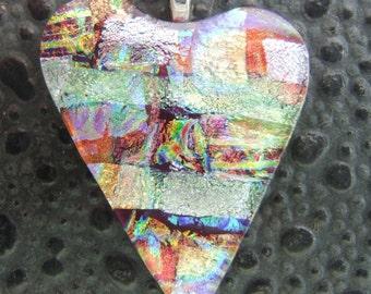 Red Hot Heart-Fused Glass Jewelry Handmade in North Carolina