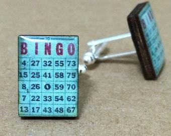 Bingo Cufflinks ~ Game Cuff Links Gift Wedding Mens Accessories Fashion