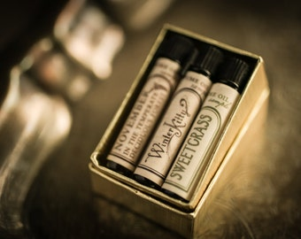 Natural Perfume Oil Samples - Choose 3 - For Strange Women perfume gift set - organic, botanical, artisan scents