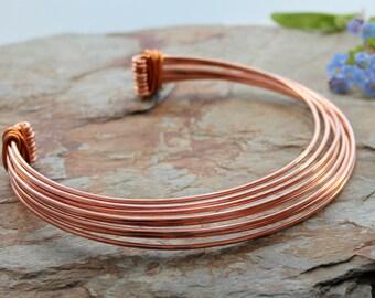 Neck Torc - Multi strand - Copper, Celtic Torq or Torque
