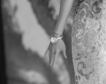 Diamond Ring Bangle Bracelet fit Slimline Petite High & Pullip dolls