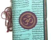 OM Chakra Art, Indian Journal, Mint Green, Ancient Indian Language, Co-worker Gift, Office Present, Boss Gift, Colleague Gift, Peer Gift