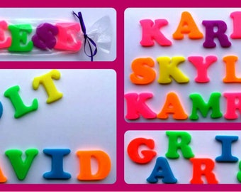 Soapy Name - Get Your Name in Soap - Gift for Kids - Birthday - You Choose Color Combination and Scent