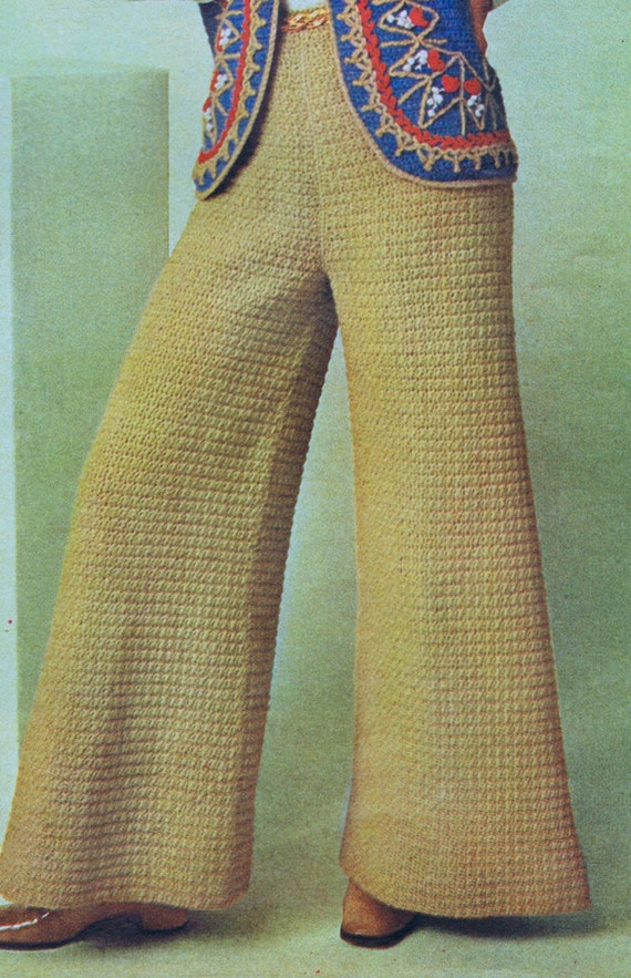 Pdf Crochet Pattern Boho Bell Bottom Evening Pants